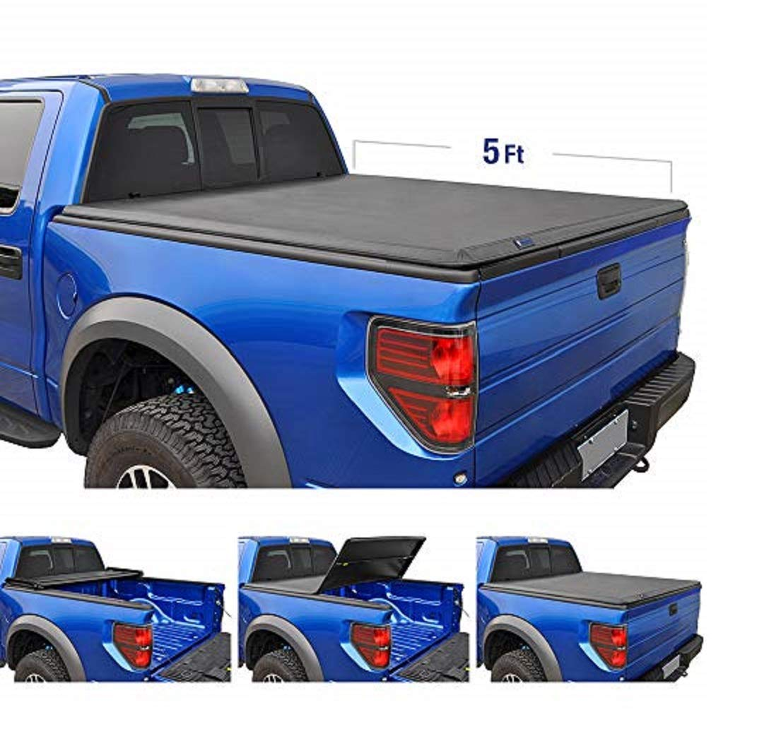 Tyger Auto T3 Tri-Fold Truck Bed Tonneau Cover TG-BC3N1028 Works with 2005-2019 Nissan Frontier; 2009-2014 Suzuki Equator | Fleetside 5' Bed