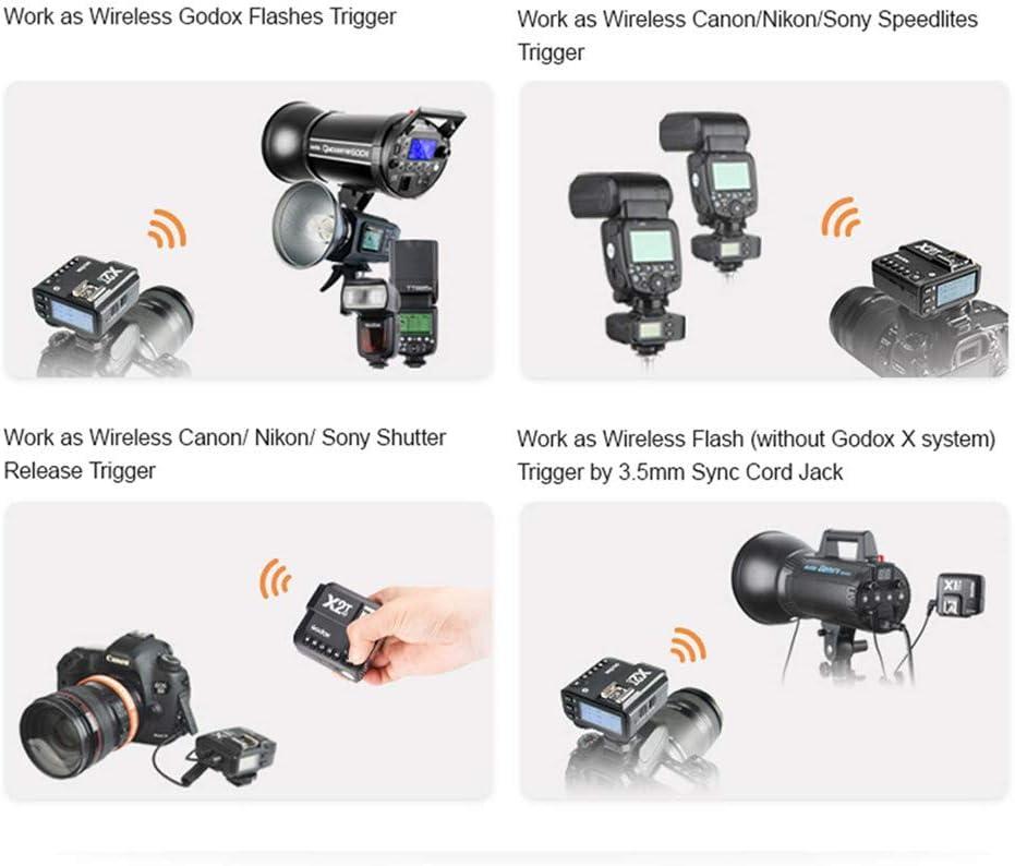 Godox X2T-C E-TTL II 1//8000s HSS 2.4G Kabelloser Blitzausl/öser mit Bluetooth Funktion f/ür Canon 400D 500D 700D 60D 70D 80D 1D 5D 6D 7D EOS-R EOS-PR
