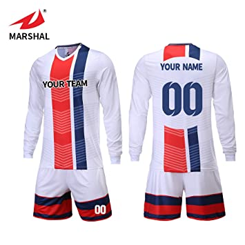 ZHOUKA Créez Le Votre Maillot de Football personnalisé Uniformes à Manches  Longues Gardien de But Hommes 9c0e4739f003e