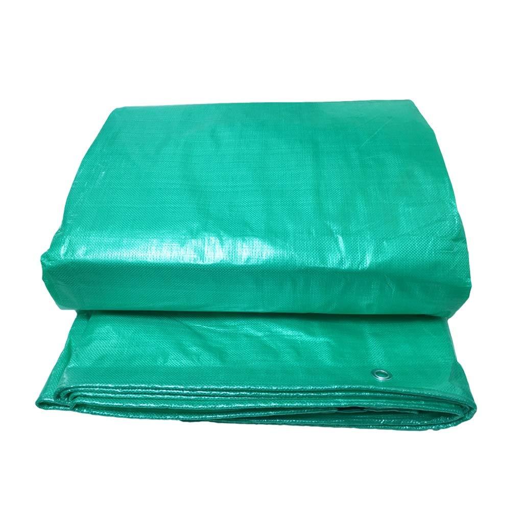 YANGJIANXIN ターポリン、防水日除け、無光透過、屋外の増粘、カスタマイズ支援 (色 : Green, サイズ さいず : 6*12) 6*12 Green B07KXTBDXW