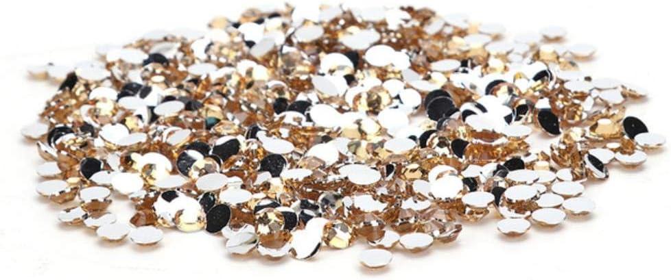 CTOBB 30g 4mm Cristal Rhinestone Piedras Preciosas Brillantes Piedras Planas Cristal Strass para DIY Artes de uñas Vestidos de Novia Prendas de Vestir, níquel Negro