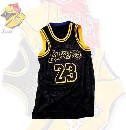 QAZW NBA Baloncesto Uniformes Lakers James#23 Bordado Transpirable y Resistente Basket-Ball Uniforme de Verano Transpirable Sudadera Camisa Deportivas Maillots Baloncesto XS: Amazon.es: Hogar