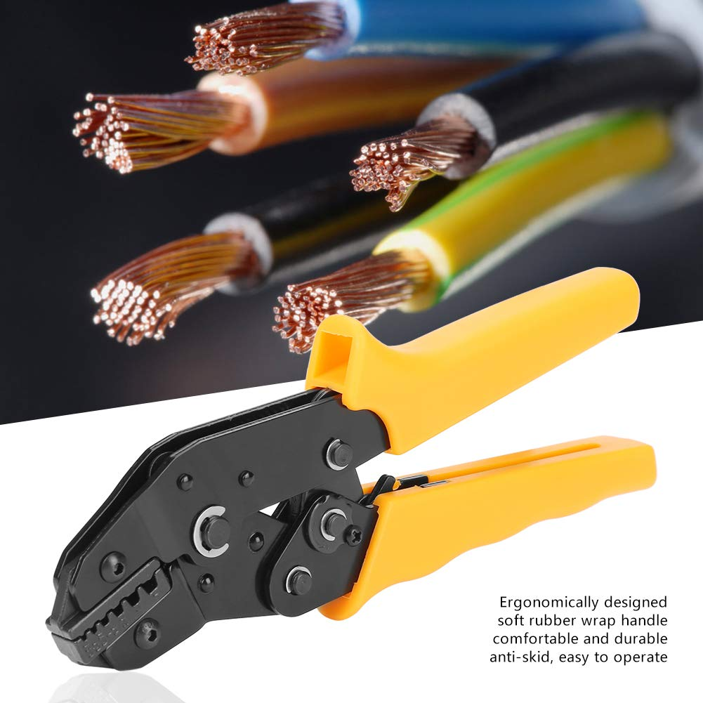Ratschenkabel Crimpzange 0,25-6,0 mm/² AWG 24-10 Handcrimpzange Crimpzange