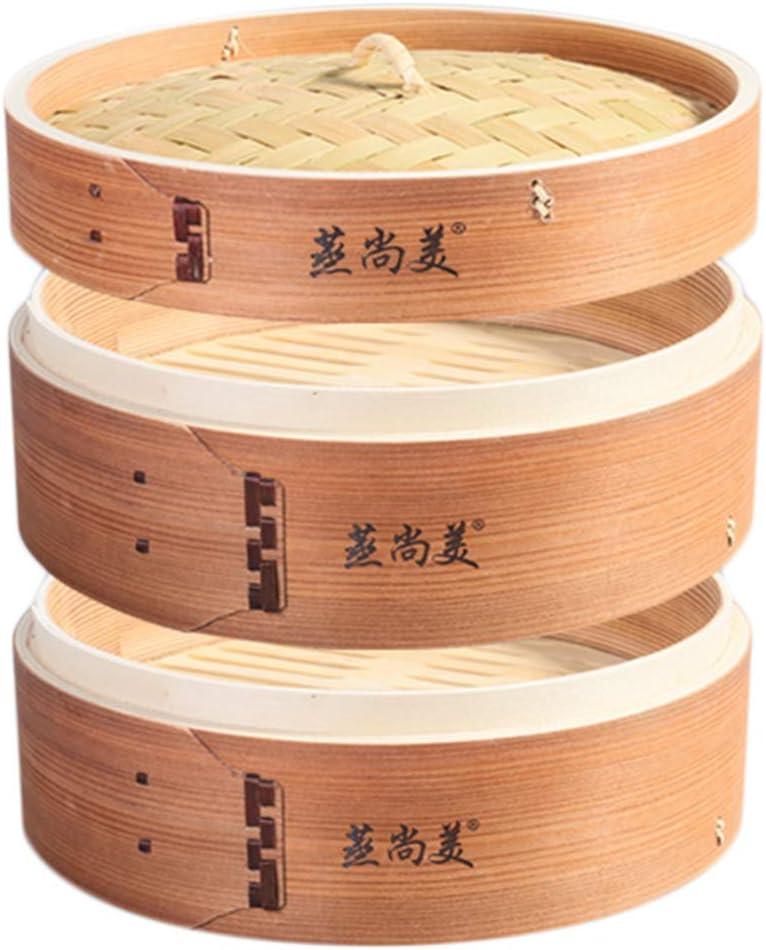 Hcooker 1 Strato Cucina Cesto a Vapore in Legno per Panini da Cucinando Asiatici Gnocchi di Verdure Riso di Pesce