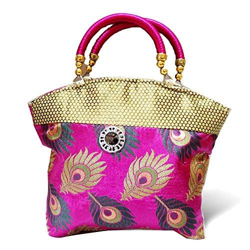 Kids Mandi Women's Handbag (Pink,Handbag.Sawant.Peacock.10)