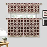 Simhomsen Lace Kitchen Window Curtains, Tiers, Valance & Swags, 3 Pieces, Vintage Look, Custom Order