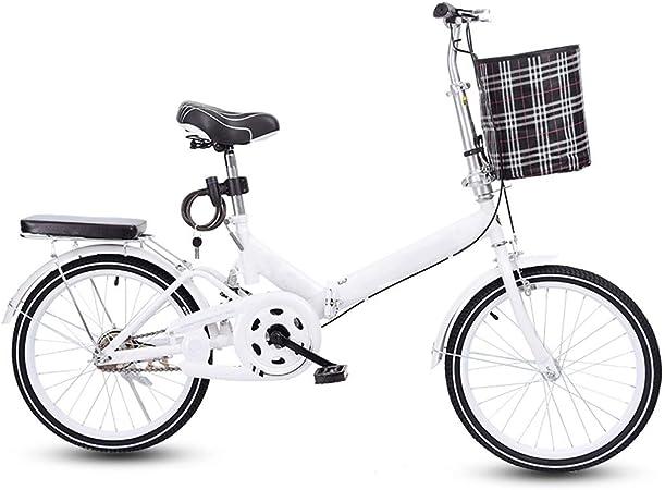 20 Pulgadas Bicicleta Plegable, Delantero Eje Trasero Ruedas Abrazando Los Frenos Adecuados For Mucho Tiempo Montar A Caballo, Apto For Hombres, Mujeres, Adultos, Adolescentes Bicicleta De Carretera: Amazon.es: Hogar