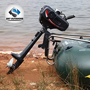 Sky 3.5 Hp Superior Engine Water Cooling System Outboard Motor Two-strok Inflatable Fishing Boat (Renewed)