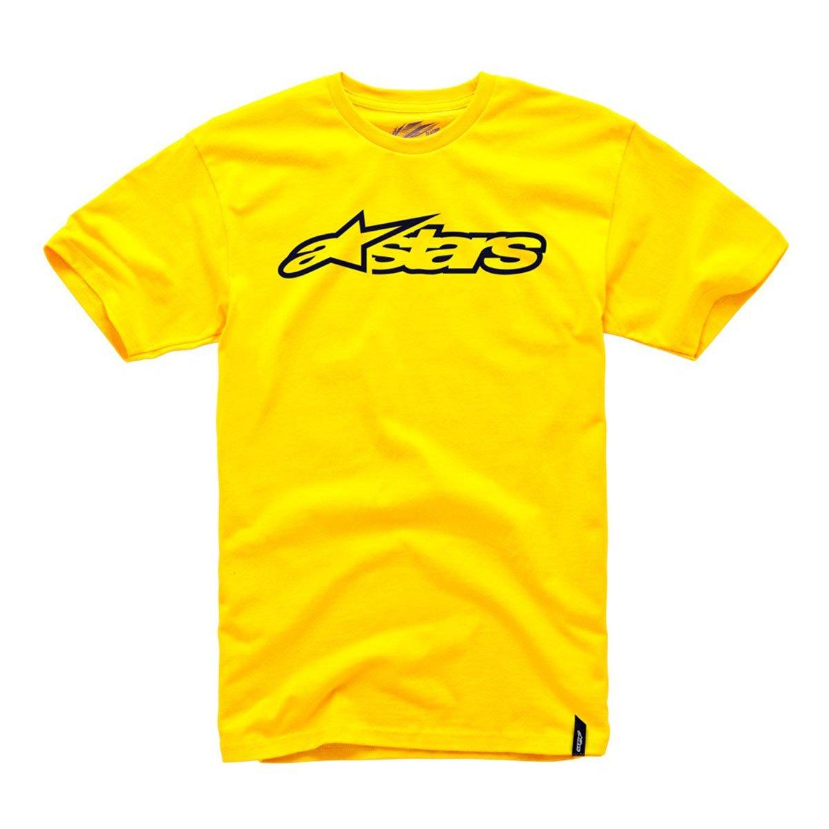 Alpinestars Men's Blaze Classic Short-Sleeve Shirt, Gold/Black, Large