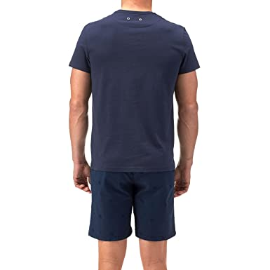 5f5d9ac676 Vilebrequin Mens T-Shirt, Navy Blue Embroidered Green Lobster Tee XXL NAVY:  Amazon.co.uk: Clothing