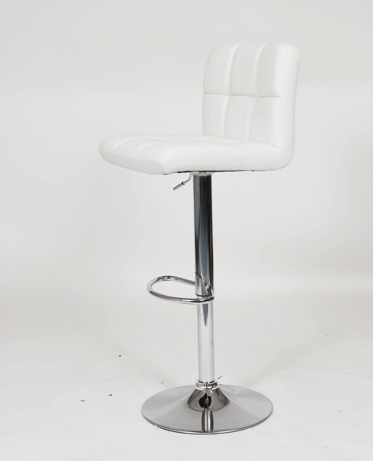 jersey seating PU Leather Hydraulic Lift Adjustable Counter Bar Stool Dining Chair White 150 Made