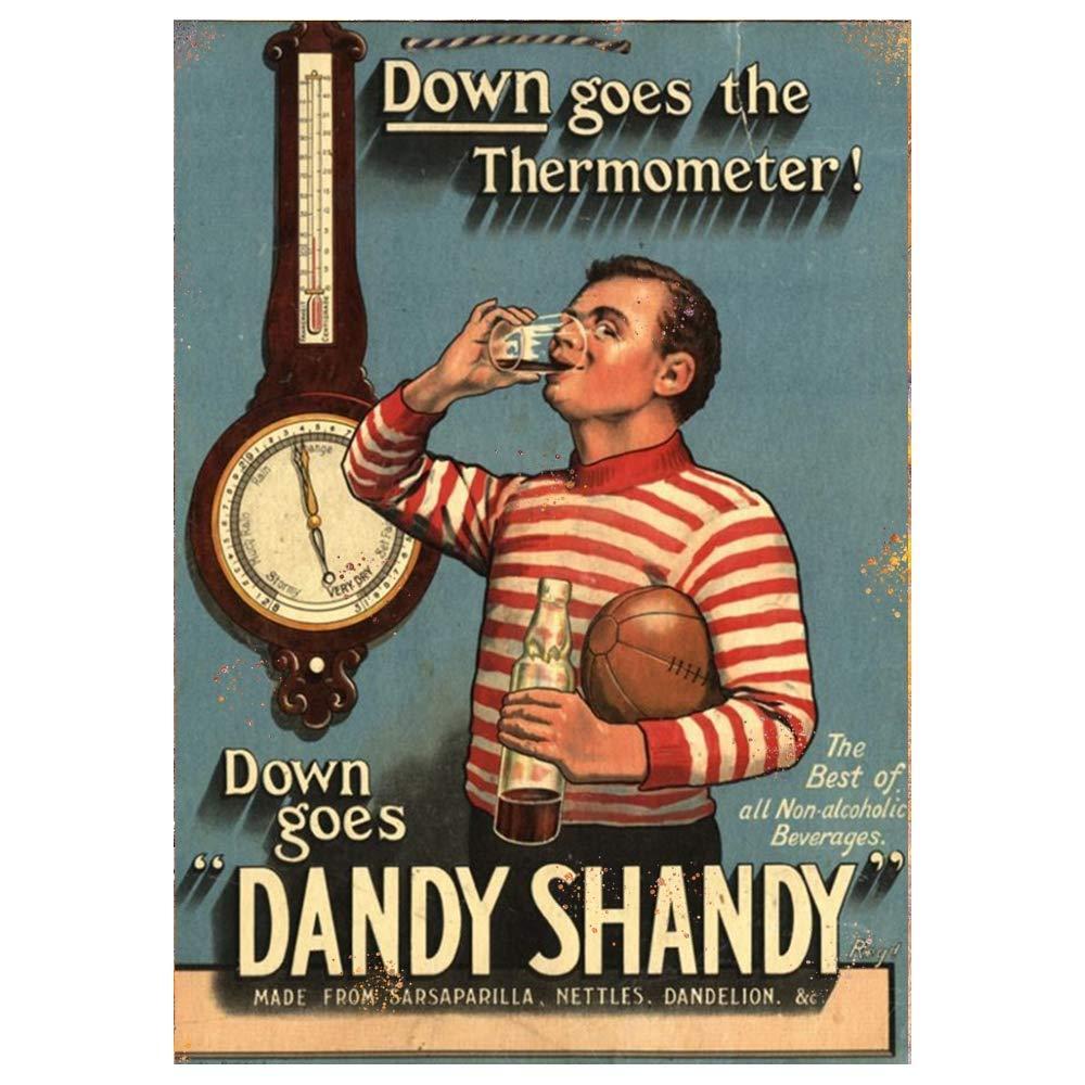 Dandy Shandy Advertising Sign Plaque Garage Workshop Shed Garden