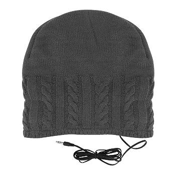 Cable Knit Headphone Hat Dark Grey  Amazon.co.uk  Musical Instruments 3aafa48909f