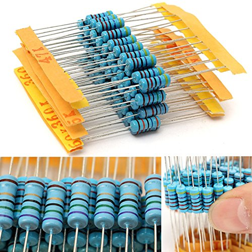 1000pcs 100 Values Metal Film Resistor 1% 1W Resistance Assortment Kit Set 1 ohm-10M ohm Jwn CA-Handtool-594