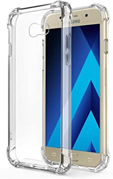 REY Funda Anti-Shock Gel Transparente para Samsung Galaxy A5 2017 ...