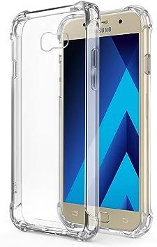 REY Funda Anti-Shock Gel Transparente para Samsung Galaxy A5 2017, Ultra Fina 0,33mm, Esquinas Reforzadas, Silicona TPU de Alta Resistencia y Flexibilidad: Amazon.es: Electrónica