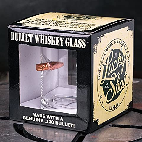 .308 Real Bullet HandmadeWhiskey Glass Set of 2