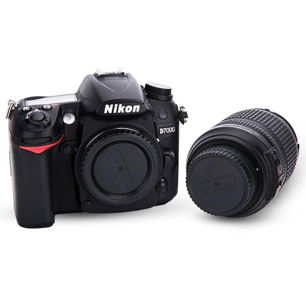 JJC Tapa de Cuerpo + Tapa del Objetivo de Cámara para Nikon F ...