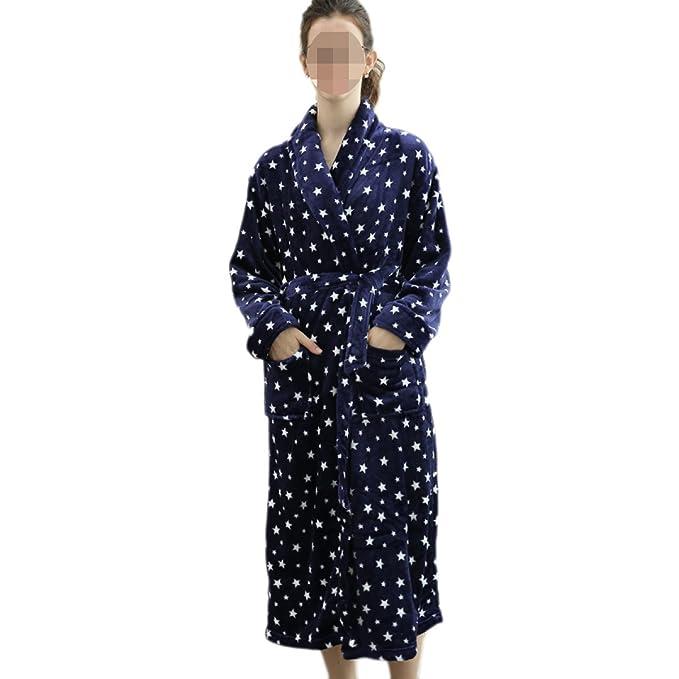 PDFGO Ropa De Hogar Servicio A Domicilio Pijamas Franela Mujer Camisón Albornoz Albornoz Delgado Cómodo,