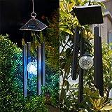 Bazaar Solar Colour Changing LED Light Lamp Wind Chimes Outdoor Garden Decor