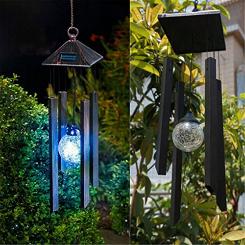 Bazaar Solar Colour Changing LED Light Lamp Wind Chimes Outdoor Garden Decor by Big Bazaar