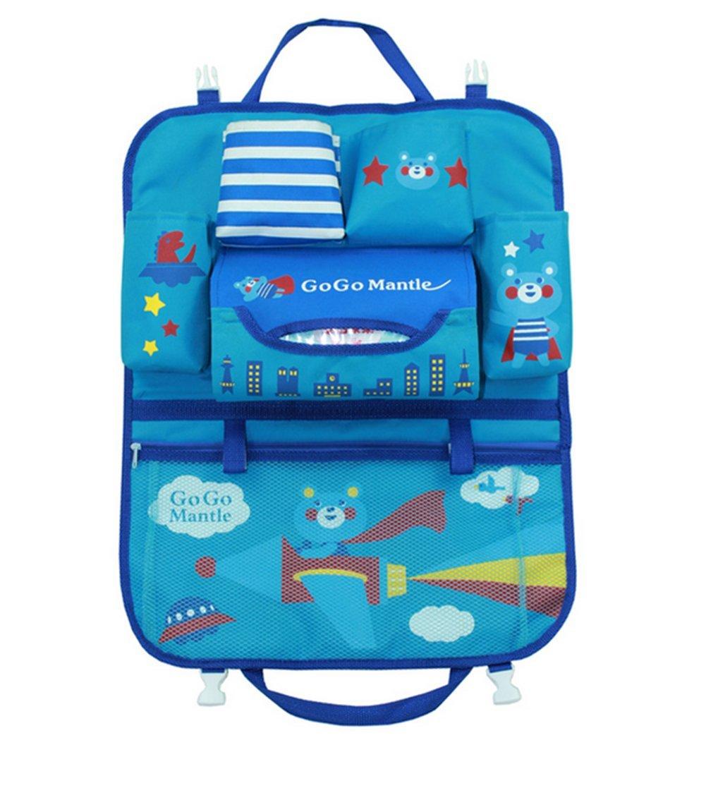 Pormow Car Seat Back Organiser, Cartoon Multifunctional Car Back Pocket Organizer Bag Bottle Cooler Bag Car Accessories (Rabbit)