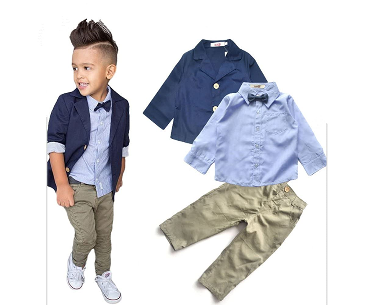 Aile Rabbit Boys Gentleman Blazer + Shirt + Pants 3 Piece Suit Set