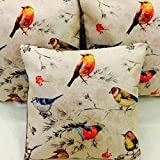 """AEROHAVEN Set of 5 Multi Colored Decorative Hand Made Cotton Cushion Covers 16"""" x 16"""" (40cm x 40cm)"""