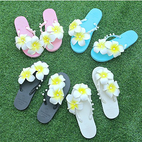 Flip Flops Sandals For Women-Summer Beach Slipper Anti-Slip Clip Toe Slides White Wkgn8