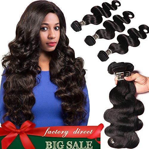 Brazilian Body Wave Bundles 100% Unprocessed Raw Virgin Brazilian Body Wave 4Pcs/Lot Mink Brazilian Virgin Hair Body Wave Extensions(8 8 10 ()
