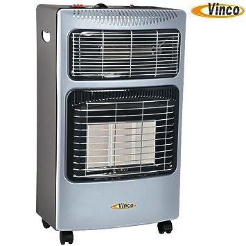 Vinco 71404 vin71404 Estufa a Gas con panel infrarrojos Ed eléctrica, blanco, 36 x 41 x 72 cm: Amazon.es: Jardín