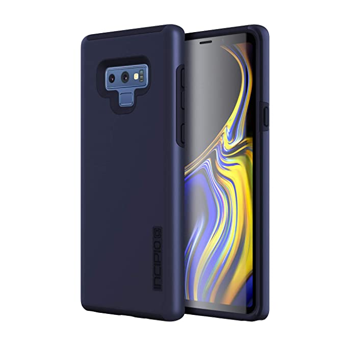 huge selection of 193c7 ae7b0 Incipio DualPro Samsung Galaxy Note 9 Case with Shock-Absorbing Inner Core  & Protective Outer Shell for Samsung Galaxy Note 9 - Midnight Blue
