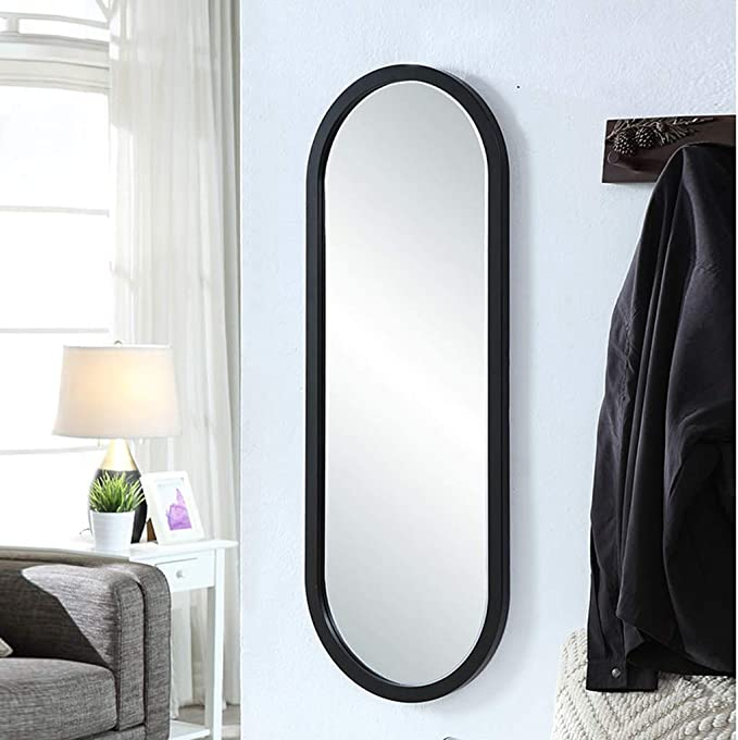 Espejos de pared Decoración del hogar Espejo de baño Espejo de baño de Pared Espejo de baño Espejo de baño Impermeable Espejo de tocador (Color : Black, Size : 40 * 110