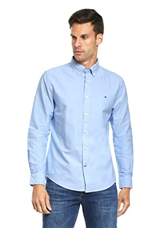 92788287c155 Tommy Hilfiger Men s New England Solid Oxford Shirt white med at Amazon  Men s Clothing store