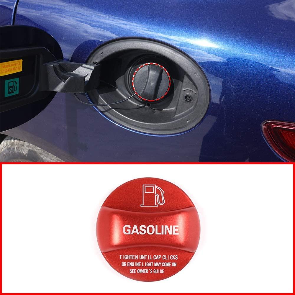 Red and Blue Aluminum Alloy Gas Fuel Tank Cap Cover Trim For Alfa Romeo Giulia Stelvio Accessories (Red)