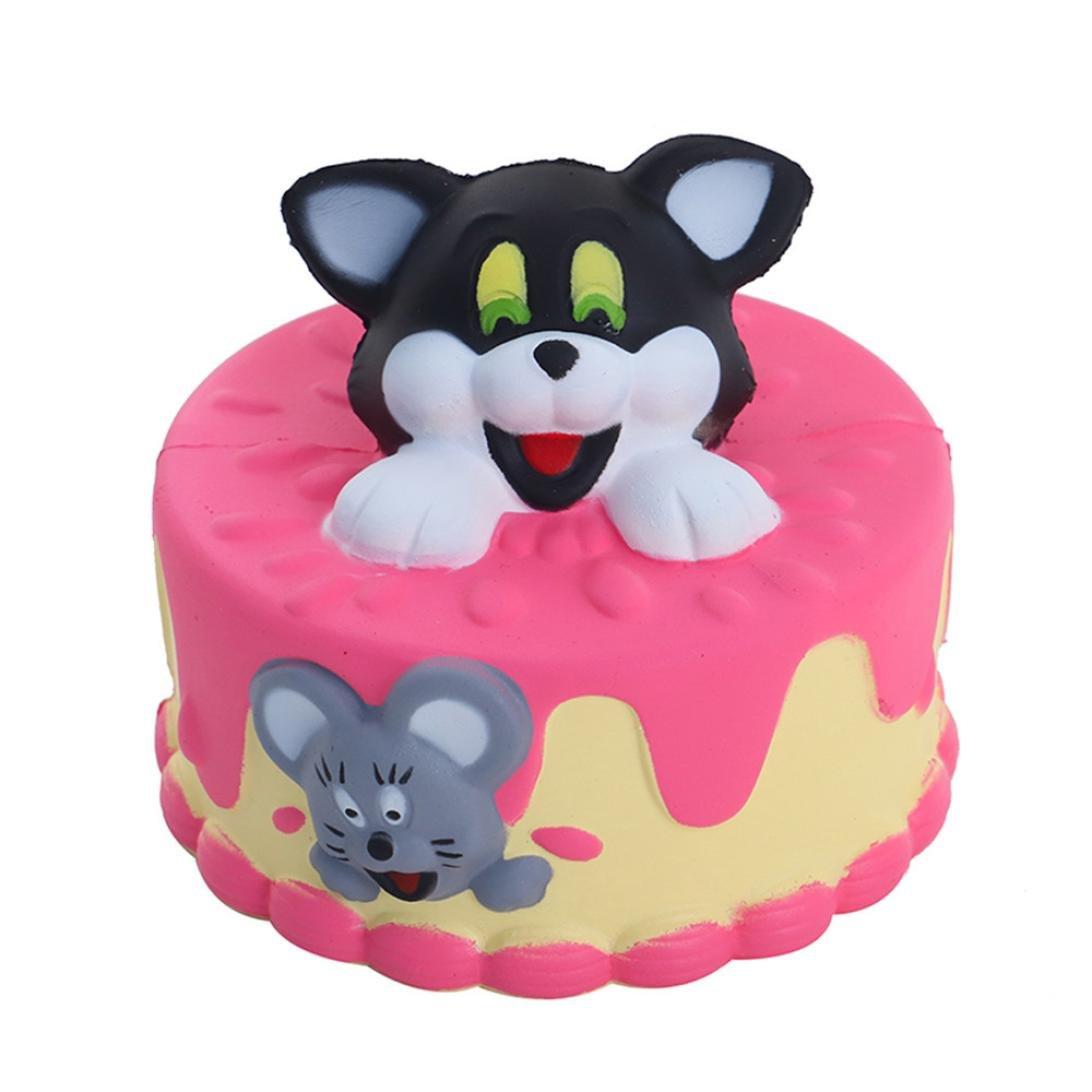 cloudro Squishies Slow Risingおもちゃ、Squishiesジャンボ香りつき可愛い動物Squishy男の子女の子パーティーギフト応力Relieverのおもちゃ、かわいい猫犬ケーキ マルチカラー 703486632795   B07FQQGFBF