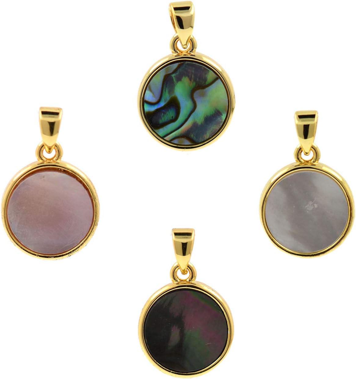 DIY 10pcs//Pack Natural Round Wood Pendants Handicrafts Earring Accessories