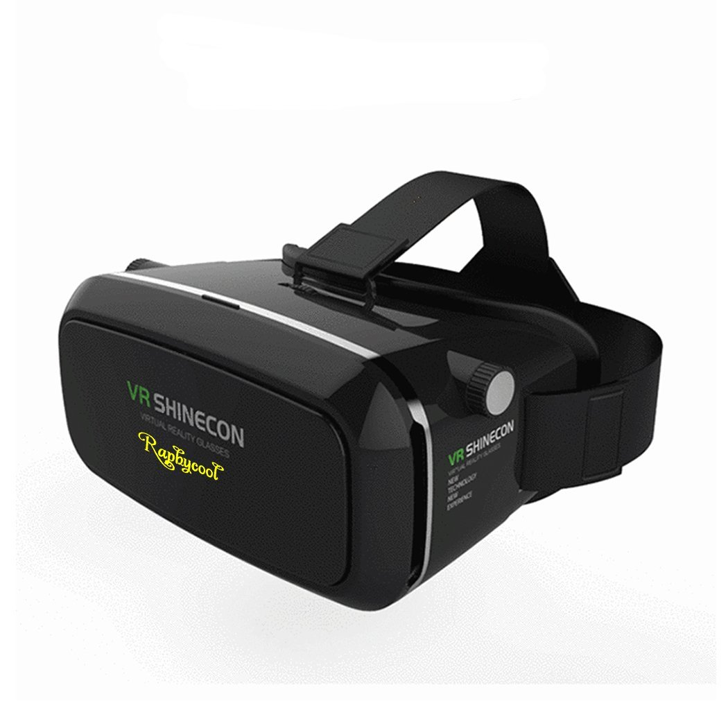 3D VR Virtual Reality Headset for Movie/Game, Raphycool Virtual Video Glasses with Adjustable Lens and Strap for iPhone 6 Plus/6s/6/5/5s, Samsung Galaxy Series Screen Size with 3.5-6inch.