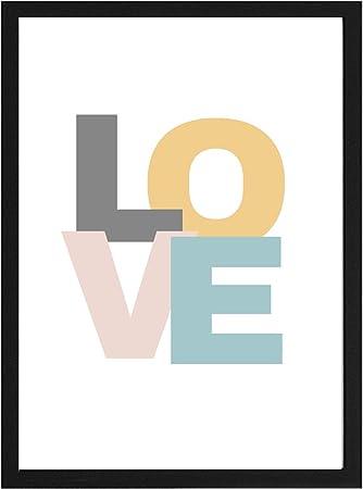 Papers Rain Lámina Infantil Love 30x40 para enmarcar. -Love- Se envía Desde España: Amazon.es: Hogar