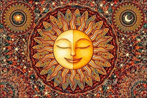 Sun Bhakti Healing Sunshine Tapestry by Artist Dan Morris