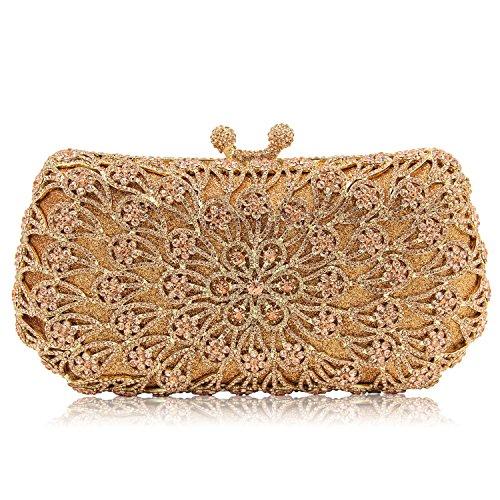 full champagne bag dinner Gold bag drill bride women bag Drilled Telinbu of qAatTO1