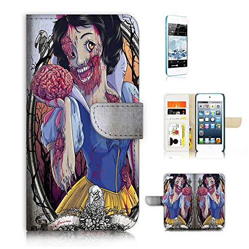 (( For ipod 5, itouch 5, touch 5 ) Flip Wallet Case Cover & Screen Protector Bundle! A20115 Zombie Snow)
