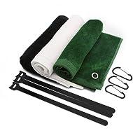 Sarissa Golf Brush & Groove Cleaner, Golf Club Brush & Towel - Golf Wire Cleaner Iron Brush Cleaning Tool with 2 FT Retractable Zip-line Aluminum Carabiner