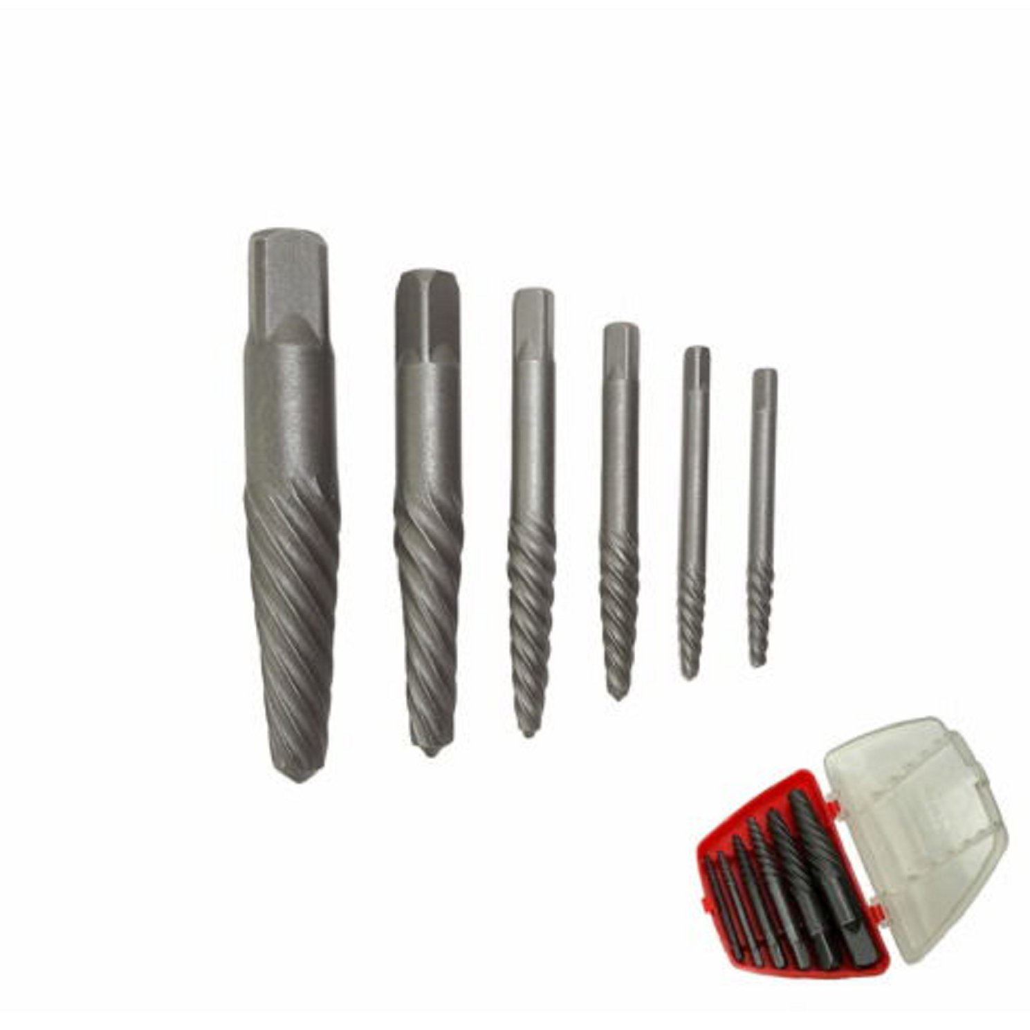 USA Premium Store 6 PC SCREW EXTRACTOR KIT SET BROKEN BOLT REMOVAL TOOL EASY EZ OUTS LAG SHANK BIT