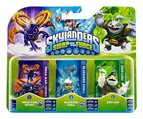 Figurine Skylanders : Swap Force - Zoo Lou + Mega Ram Spyro + Blizzard Chill