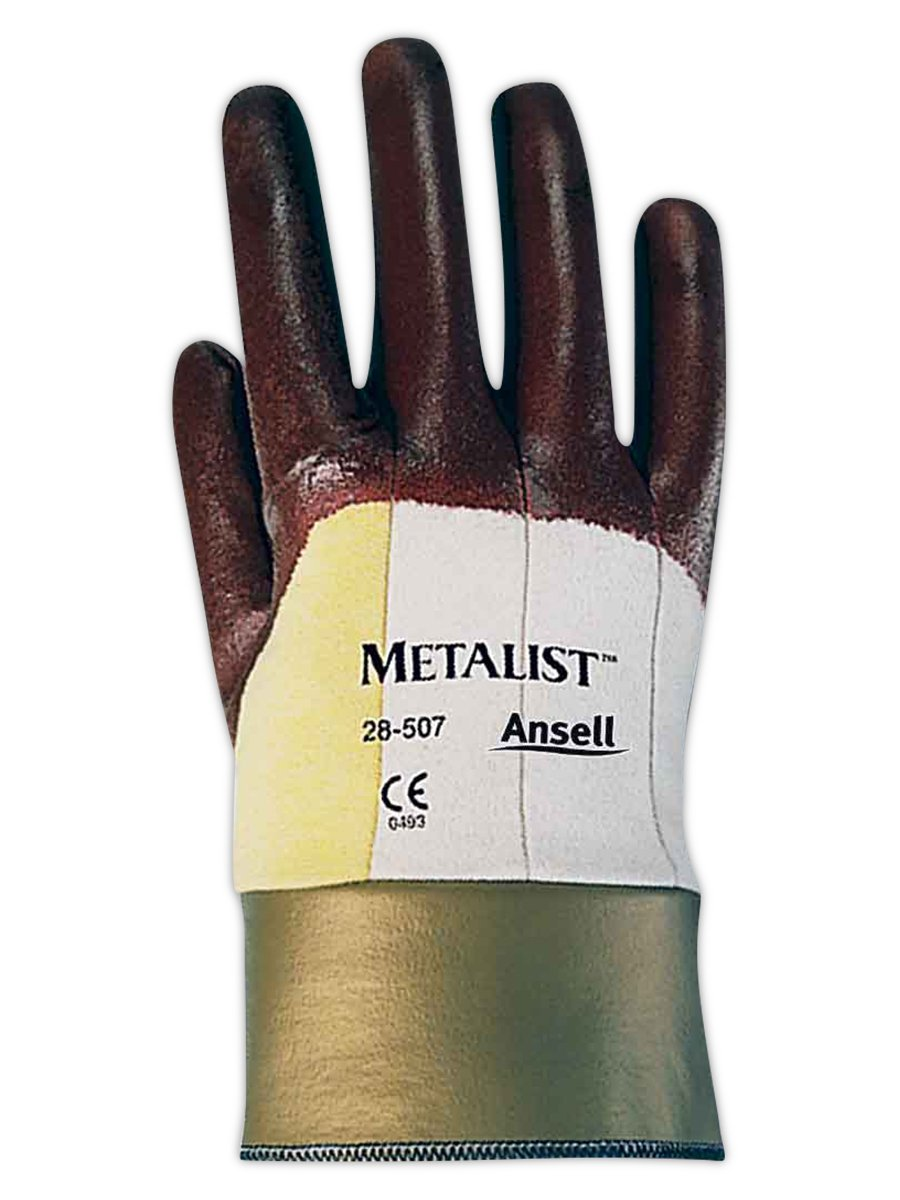 Ansell Metalist 28507 Kevlar Gloves with Porous Nitrile Coating