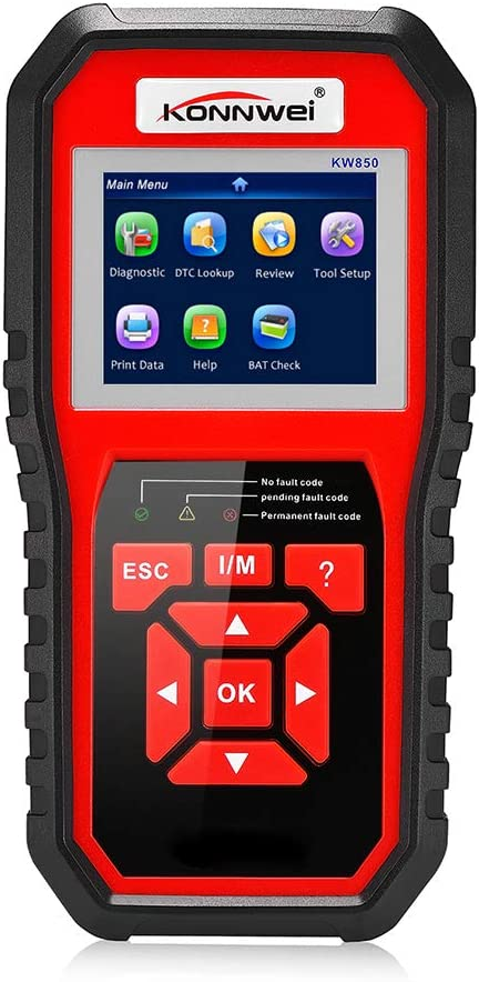 KONNWEI KW850 OBD II OBD2 Escaner Lector de Codigo Herramienta de Diagnostico Motor