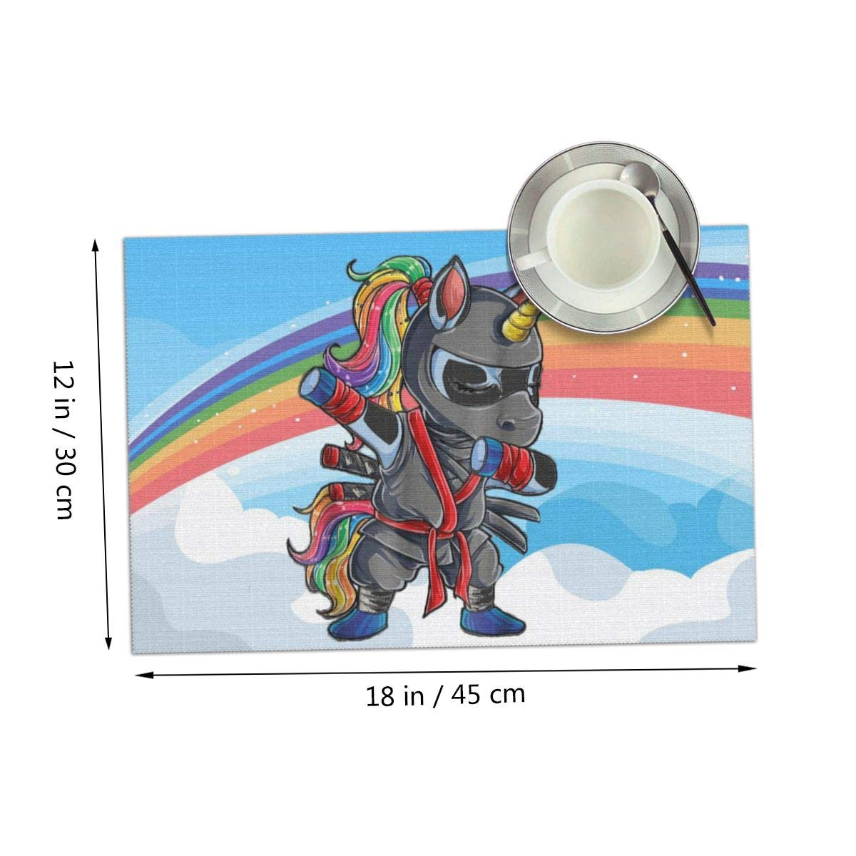 Amazon.com: Dabbing Ninja Unicorn Girls Cool Rainbow Sky ...