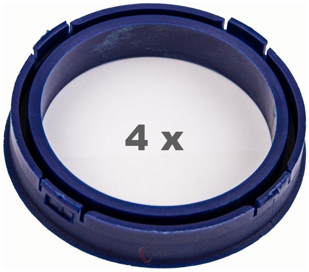 4 X Anello Di Centraggio 73.1 mm a 58.1 mm blu scuro/Blu scuro Pneugo