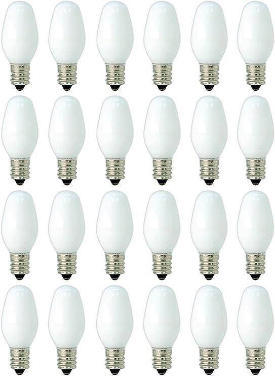 Clear Satco Products Satco S4724 120V 4//Card Candelabra Base 4-Watt 4C7 Night Light Bulb